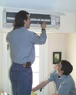 Custom Vac - Heating - Cooling - Air Quality Control - Duct Cleaning - Winnipeg, Manitoba - Ductless Air Conditioning installation